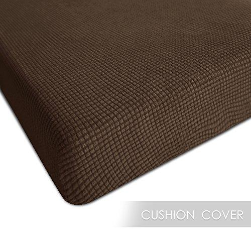 CHUN YI Chunyi Jacquard Polyester Spandex Cushion Slipcover (Chair Cushion, Coffee)