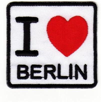 Parche para aplicar mediante planchado o cosido dise/ño de I Love Berlin