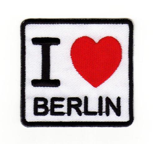 Bestellmich Aufn/äher I Love Berlin Sew-on//Stirare ca 6.2/x 5.8/cm