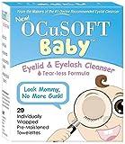 OCuSOFT Baby Eyelid & Eyelash Cleanser Towelettes 20 ea (Pack of 2)