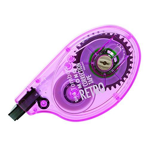 Mono Colored Correction Tape (Tombow Classic Mono Correction Tape, Retro Rose Dispenser, Single Line, White Tape (68674))