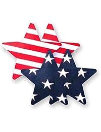 Nippies American Flag Print Stars Waterproof Adhesive Nipple Cover Pasties