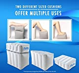 Comfortable, Inflatable Foot & Leg Rest For Car, Office, & Airplanes | Cushions and Blow-Up Pillow for Feet & Legs | Portable Cushion Pillows, Ottomans, and Airbeds for Children