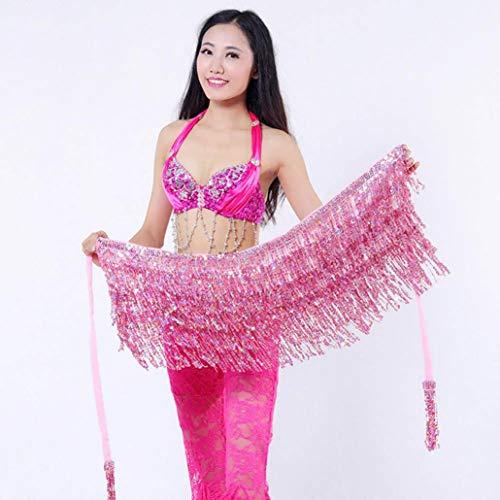 Clearance!!Womens Sequin Belly Dancer Costume,Ladies Tassel Wrap Skirt Club Mini Skirt (Free, -
