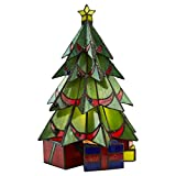 Christmas Decorations - Christmas Tree Tiffany Stained Glass Lamp - Holiday Decor