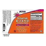 vitamin d3 spray - NOW Vitamin D-3 & K-2 Liposomal Spray, 2-Ounce