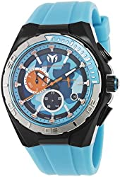 TechnoMarine Men's 110071 Cruise Steel Camouflage Chronograph Blue Camouflage Dial Watch
