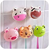 LUQUAN Cartoon Animal Automatic Toothbrush Holder Toothbrush Rack With Suction-Style Random