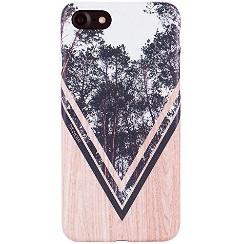 DICHEER iPhone 7 Case,iPhone 8 Case,Cute Wood Froest Design for Men Women Girls Slim Fit Thin Clear Bumper Glossy TPU Soft Rubber Silicon Cover Best Protective Phone Case for iPhone 7/iPhone 8