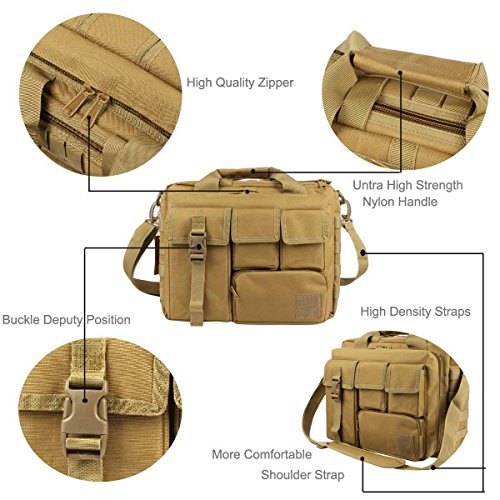 Messenger Bag Multi Khaki Handbags Bag Nylon Holdall Shoulder Gym Sports Travel Khaki Laptop Black Bag functional Outdoor MUTANG qwn80xEw
