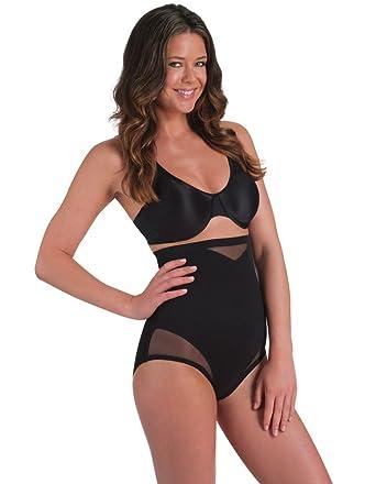 48cbccc0d2e54 Miraclesuit Shapewear Sexy Sheer Black Hi-Waist Brief 2785 at Amazon ...