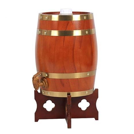 Barril de Vino de Madera Dispensador para Guardar su Propio Whisky, Cerveza, Vino,
