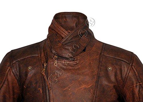 b2da3b8f2be Gallanto Eddie Mens 3/4 Motorcycle Biker Brown Distressed Vintage Leather  Jacket
