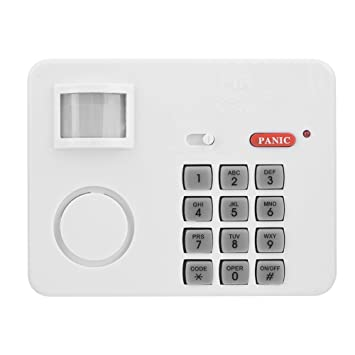 fosa Alarma de Seguridad Inalámbrica Infrarrojos para Hogar, Alarma con Sensor de Movimiento PIR,
