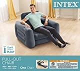 "Intex Pull-Out Chair Inflatable Bed, 42"" X 87"" X"