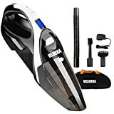 WELIKERA Handheld Vacuum, 12V 100W Powerful Portable Pet Hand-Held Cordless Vac, Rechargeable Vacuum Cleaner for Home and Car Cleaning, with A Carrying Bag, Black