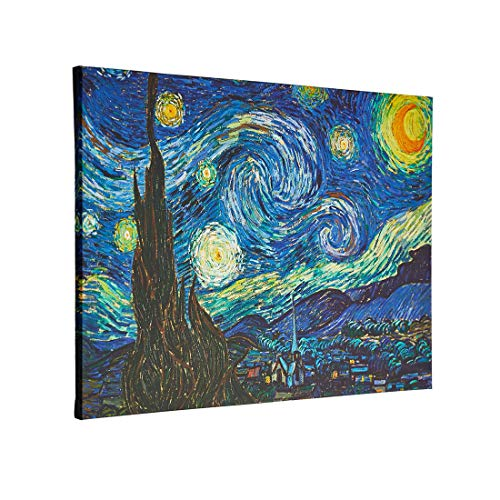 Wall Art Starry Night Abstract Canvas Prints Wall Art by Van Gogh Famous Oil Paintings Reproduction,Modern Gallery Giclee Canvas Prints,Sky Star Pictures Artwork for Home Office Decorations 20