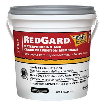 Custom Building Products LQWAF1-2 1 Gallon RedGard® Waterproofing & Crack Prevention Membrane