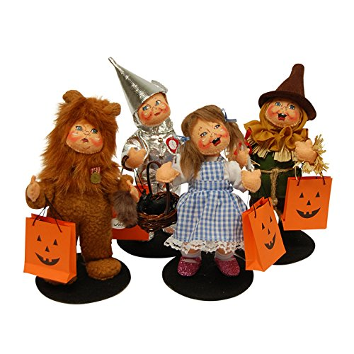 Annalee 6 in Trick or Treat Wizard of Oz Set of 4 (Tin Man, Dorothy, Cowardly Lion, Scarecrow) by Annalee