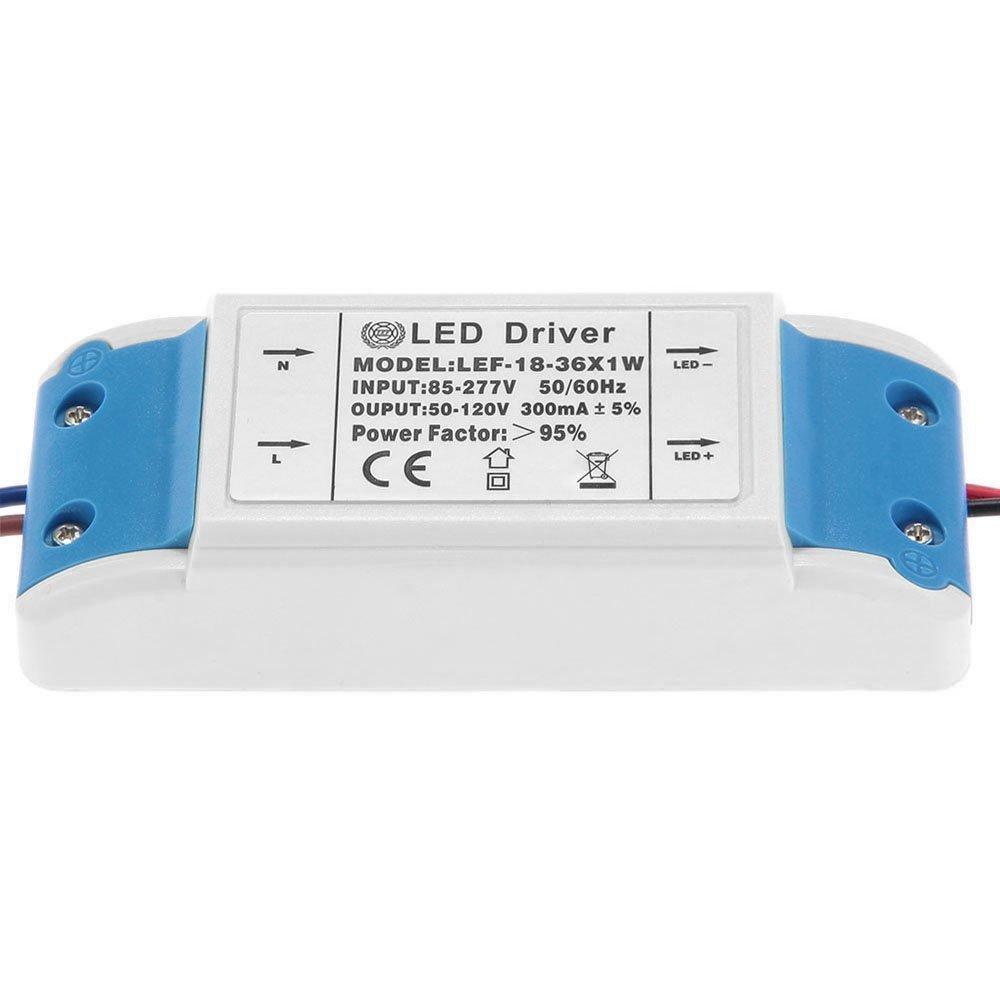 TOOGOO di alta qualita LED Driver 20-36W Transformer driver DC 50-120V AC 85-277V