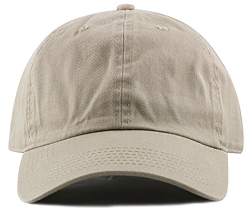 MIRMARU Plain Stonewashed Cotton Adjustable Hat Low Profile Baseball -