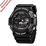 EVTCO Men's Digital Sports Watch with LED Military Watches and Waterproof Stopwatch Army Watch