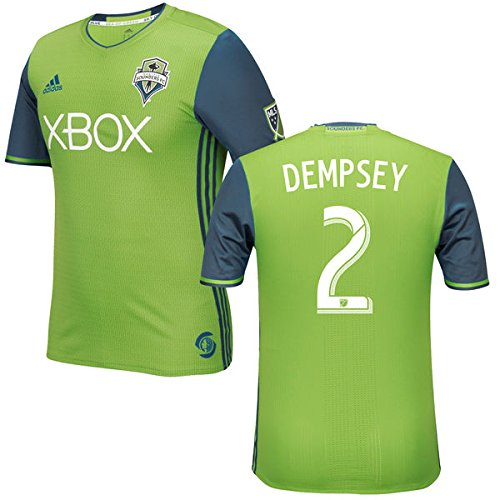 MLS Seattle Sounders FC Clint Dempsey #2 Men's Replica Short Sleeve Player Jersey, Green, Medium by adidas