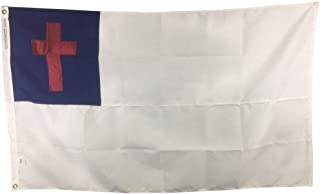 product image for 2x3' Christian Flag for Outdoor, Sewn All Weather Nylon, Made in USA
