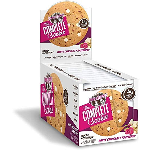 Lenny & Larry's The Complete Cookie, White Chocolate Razzberry, 4 Ounce Cookies - 12 Count, Soft Baked, Vegan and Non GMO Protein Cookies ()