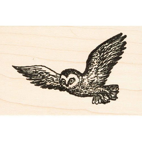 Flying Owl Rubber Stamp ()