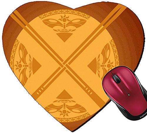 Liili Mousepad Heart Shaped Mouse Pads/Mat sunny swords Photo - Heart Shaped Sunnies