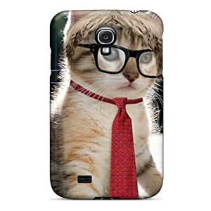 Cute Appearance Cover/tpu CCY986uKdB Intellectual Cat Case For Galaxy S4