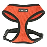 Puppia Soft Dog Harness, Orange, Small