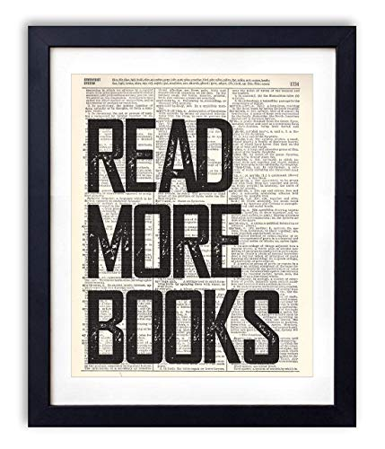 (Read More Books Typography Upcycled Vintage Dictionary Art Print 8x10)
