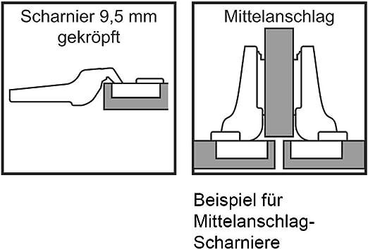 gekr/öpfte Scharniere zum Aufstecken Stahl BLUMOTION 973A