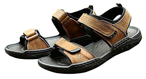 Agowoo Menns Krok Og Loop Utendørs Sandles Strand Sandaler Shallow_brown