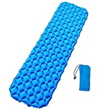 Ultralight Sleeping Pad Camping Mat - Ultra-Compact for Backpacking, Camping, Hiking - Ultralight Inflatable Air Mattress Pads - Thick and Durable Design for Indoor and Outdoor Use