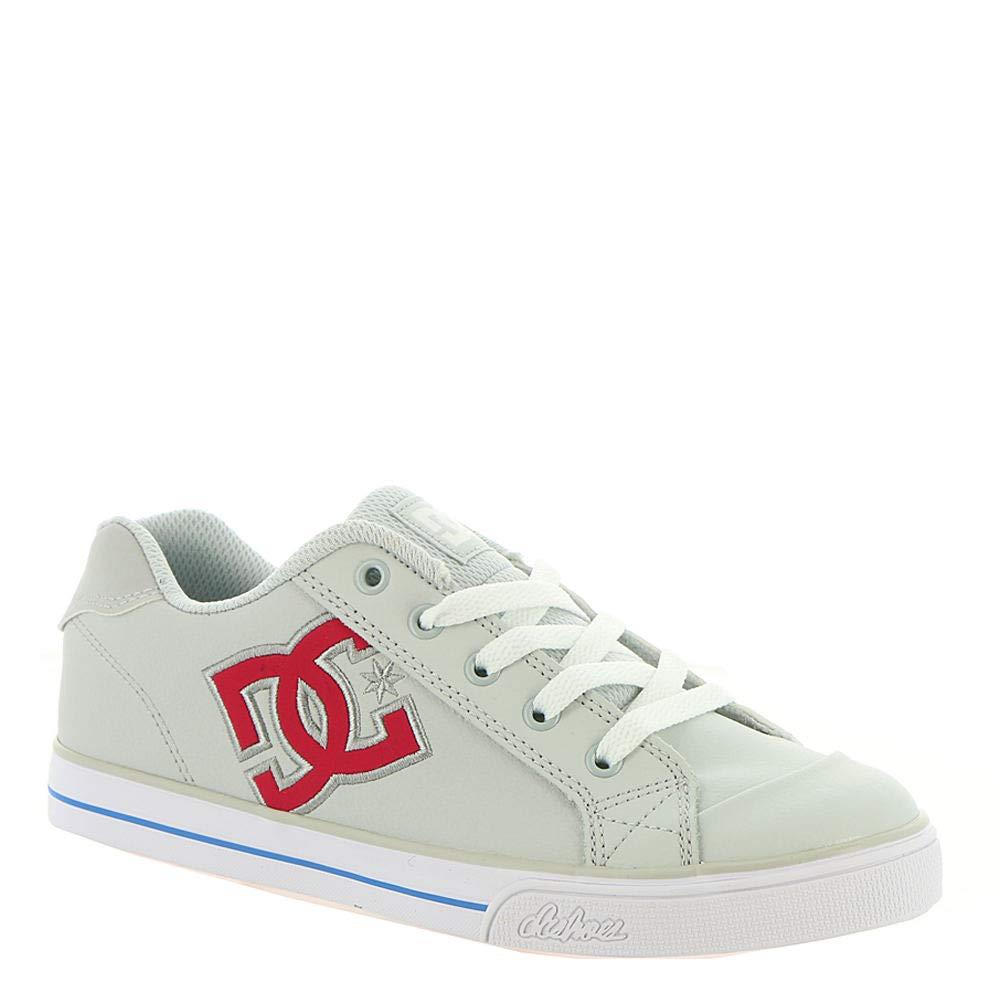 DC Girls' Chelsea Sneaker Grey/Pink 1 M M US Little Kid