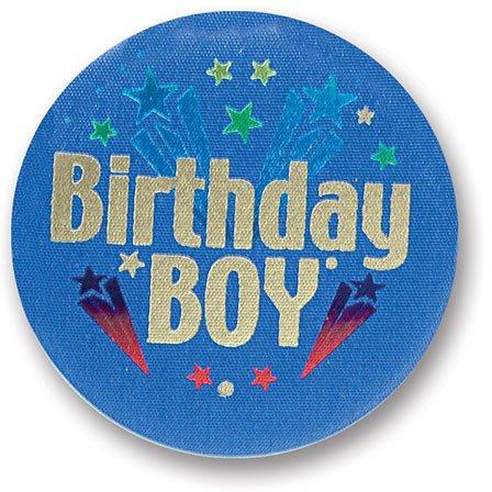 Beistle Birthday Boy Satin Button
