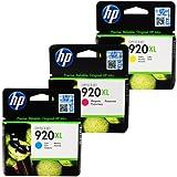 HP Genuine 920XL Cartridges - 3-Pack- Cyan/Magenta/Yellow