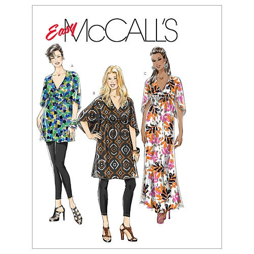 Amazon.com: McCall\'s Patterns M6037 Misses\'/Women\'s Top, Tunic And ...