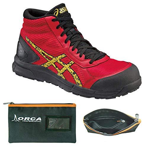 アシックス 安全靴 30.0cm ウィンジョブR truered×gold CP104 整理仕分けバッグ付セット FCP104  B07Q5SBZLG