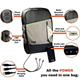 Laptop Backpack + USB Power Bank   20000mah Portable Phone Charger Comes With USB C 3-in-1 Cable   Computer Backpack For Tablets MacBooks & Cell Phones   Bonus: RFID Pouch