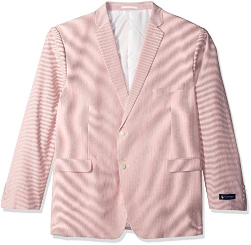 U.S. Polo Assn. Men's Seersucker Nested Suit, Red, 40 Short