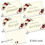 Floral Wedding party proposal notes (Ivory)