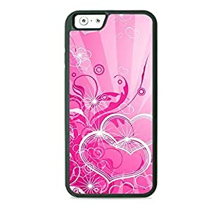 Pink Hearts and Swirls Hard PC Back Case Cover For HTC One M9