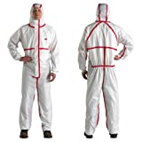 3M Disposable Chemical Protective Hooded Coverall 4565 Large As Shown