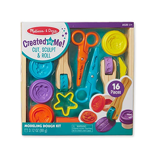 Melissa & Doug Cut, Sculpt, and Roll Clay Play Set With 8 Tools and 4 Colors of Modeling Dough (Best Playdough For Toddlers)