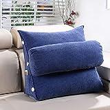 Lumbar Pillow Cailin, Triangle Cushion, Sofa Pillow, Bed Cushion, Office Lumbar Support, Neck Pillow - Comfortable (Color : Navy, Size : 452045cm)
