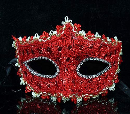 Party Masks - 1pc Exquisite Venetian Style Lace Crystal Rhinestones Mask Party Halloween Masquerade Performance - Venetian Women Mask Masquerade Silver Stick Masks Party Ball Style